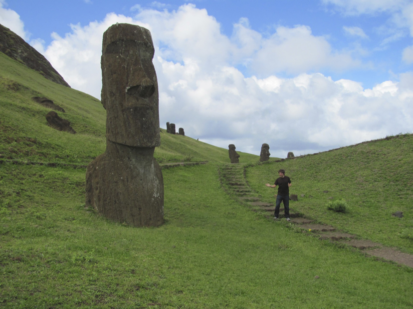 The Moai are massive
