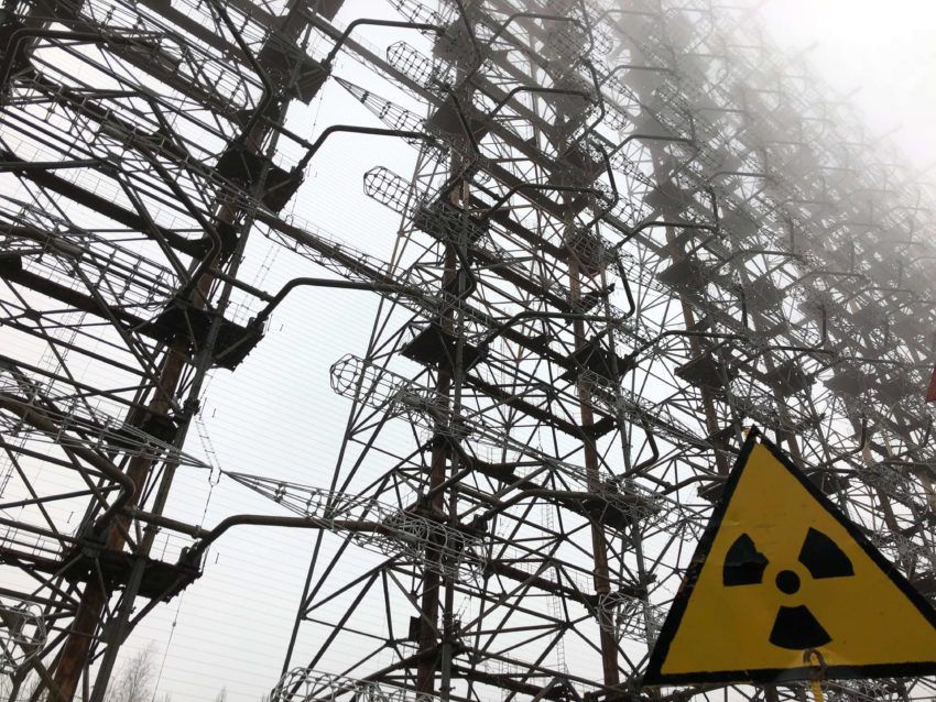 The Russian Woodpecker outside Chernobyl